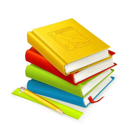 Stack of textbooks Vector