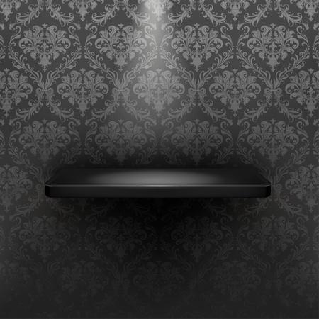 Empty shelf, black luxury Stock Vector - 13798645