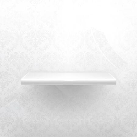 Empty shelf, white luxury Stock Vector - 13798581