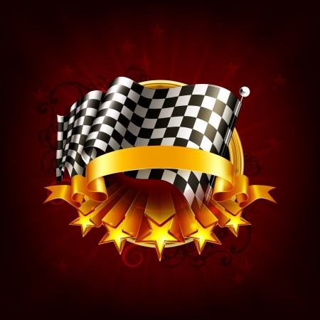 Racing emblem Stock Vector - 13798609