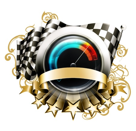 Racing emblem Stock Vector - 13820734