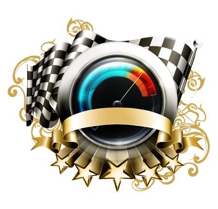 Racing emblem Stock Vector - 13820734