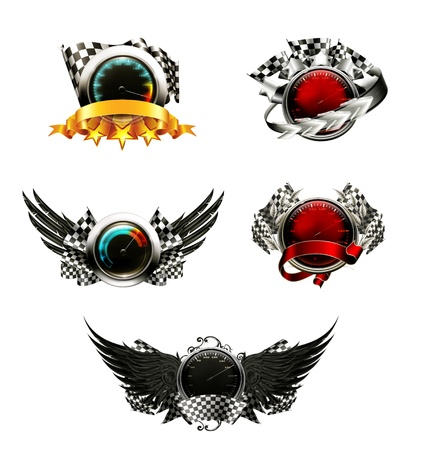 Set of racing emblems Stock Vector - 13820725