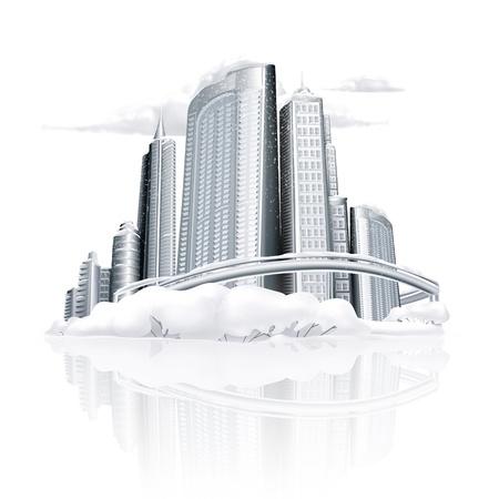Winter-Stadt