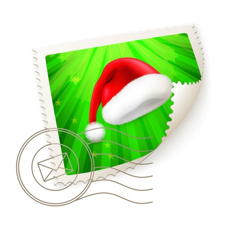 Christmas Postage Stamp Vector