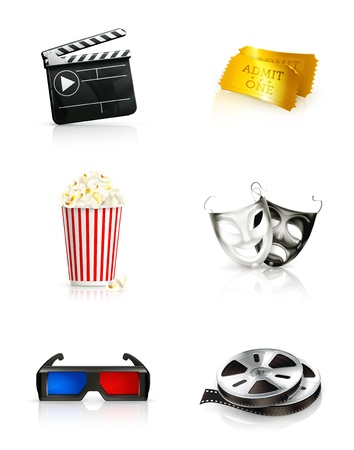 Film, icon set Vector