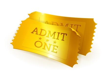 Golden tickets Stock Vector - 13820544
