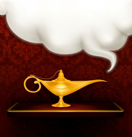 oil lamp: Oil lamp Illustration