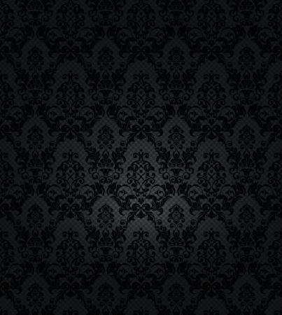 black silk: Seamless floral pattern