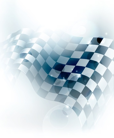 checker flag: Blue Checkered Background