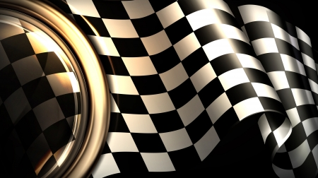 rally: Checkered Background Horizontal