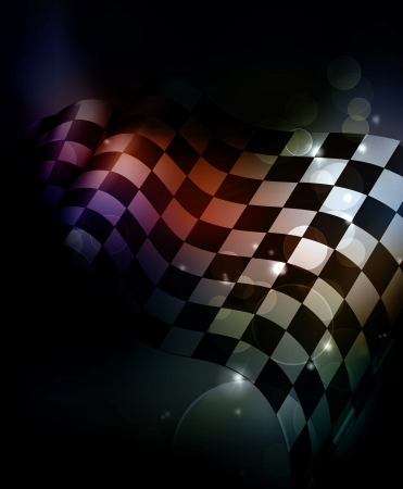 Dark Checkered Background Stock Vector - 13833710