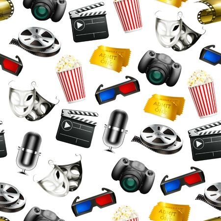 Film seamless background Vector
