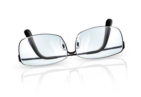 myopia: Glasses Illustration
