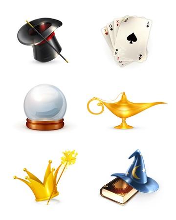 an oil lamp: Magia conjunto