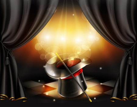Magic tricks background Illustration