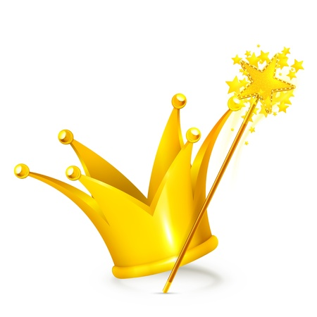 corona de princesa: La varita mágica y la corona
