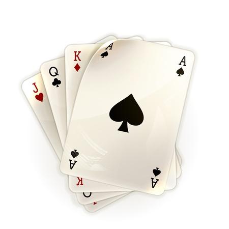 jeu de cartes: Cartes � jouer Illustration