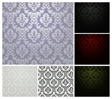 black carpet: Pattern seamless, set Illustration