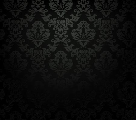 papier peint noir: Seamless pattern