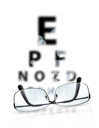 eye exams: Eye test Illustration