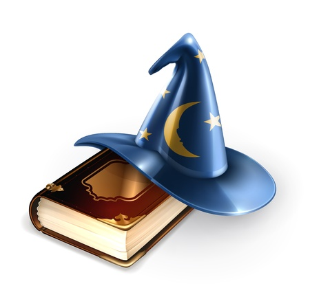 Wizard hat and old book Vector