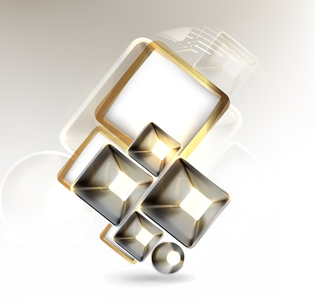 square shape: Abstract metal background