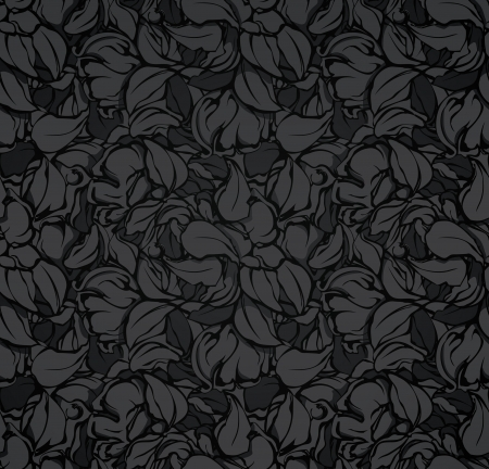 decorative wallpaper: Abstract seamless pattern, black Illustration