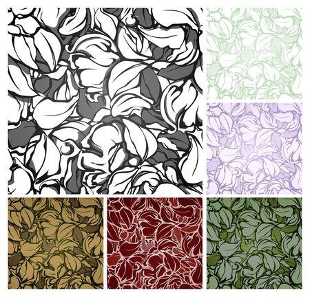 green carpet: Abstract seamless pattern, set Illustration