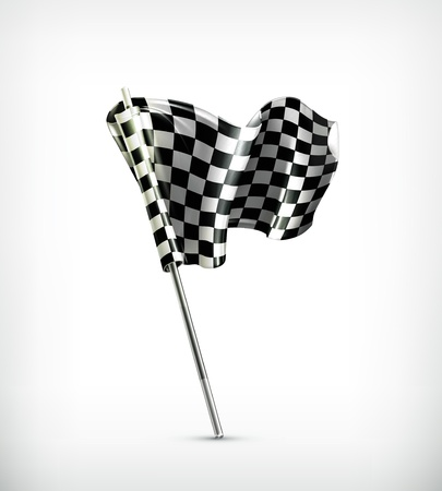 checker flag: Checkered flag Illustration