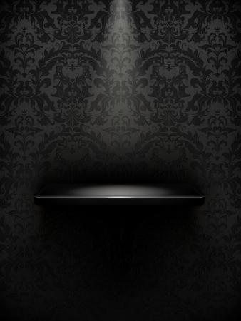 Estante vacío, negro de lujo Ilustración de vector