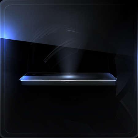 Empty shelf, black screen Stock Vector - 13843482