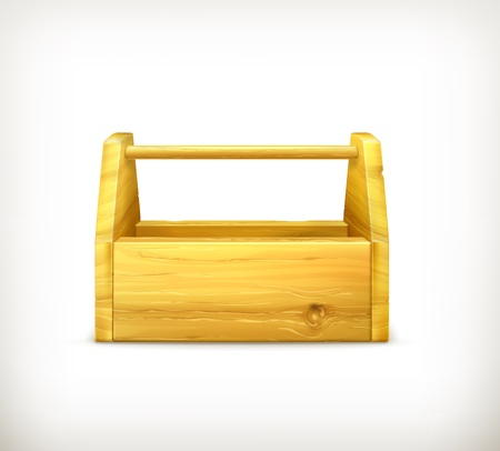 toolbox: Empty wooden toolbox