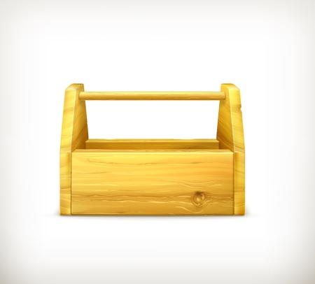 hardware tools: Empty wooden toolbox