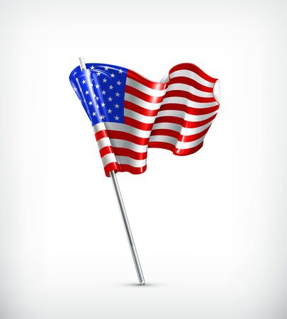 waving flag: Flag of the United States