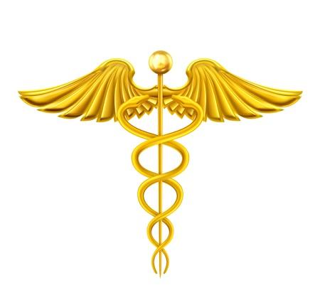 medical symbol: Caduceo de Oro