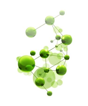 Molécule vert Banque d'images - 13851581