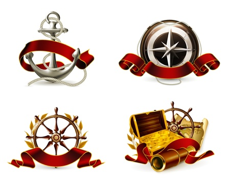 Marine Emblem set Stock Vector - 13858016