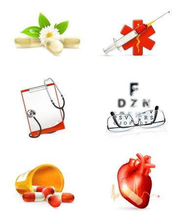 emergency medical: Medicine, set of icons