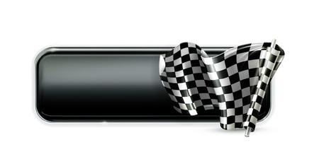 d�part course: Drapeau banni�re Racing