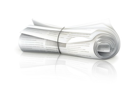 Rolled Newspaper Stock Vector - 13858000