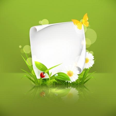 Spring frame, green Vector