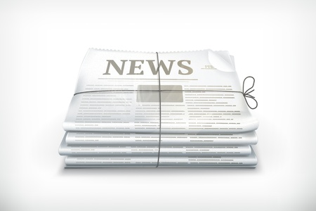 Stack of newspapers Stock Vector - 13857976