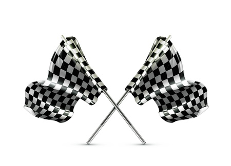 Two crossed checkered flags Stock Vector - 13857981
