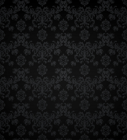 black silk: Wallpaper pattern black, seamless