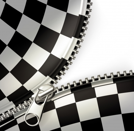 car accessory: Zipper, checkered