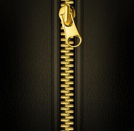 Zipper złoto