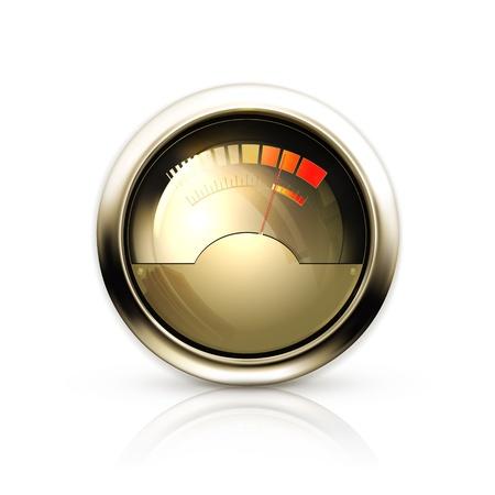 Audio Gauge Stock Vector - 13876042