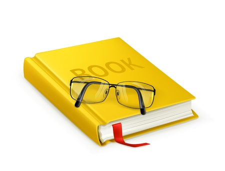 Book and glasses Stock Vector - 13875680