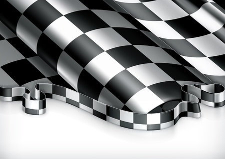 racing bike: Checkered Background